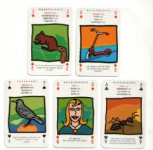 Collectible cards game  Non-standard playing cards courts Limburg Dialect